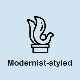 Modernist-styled